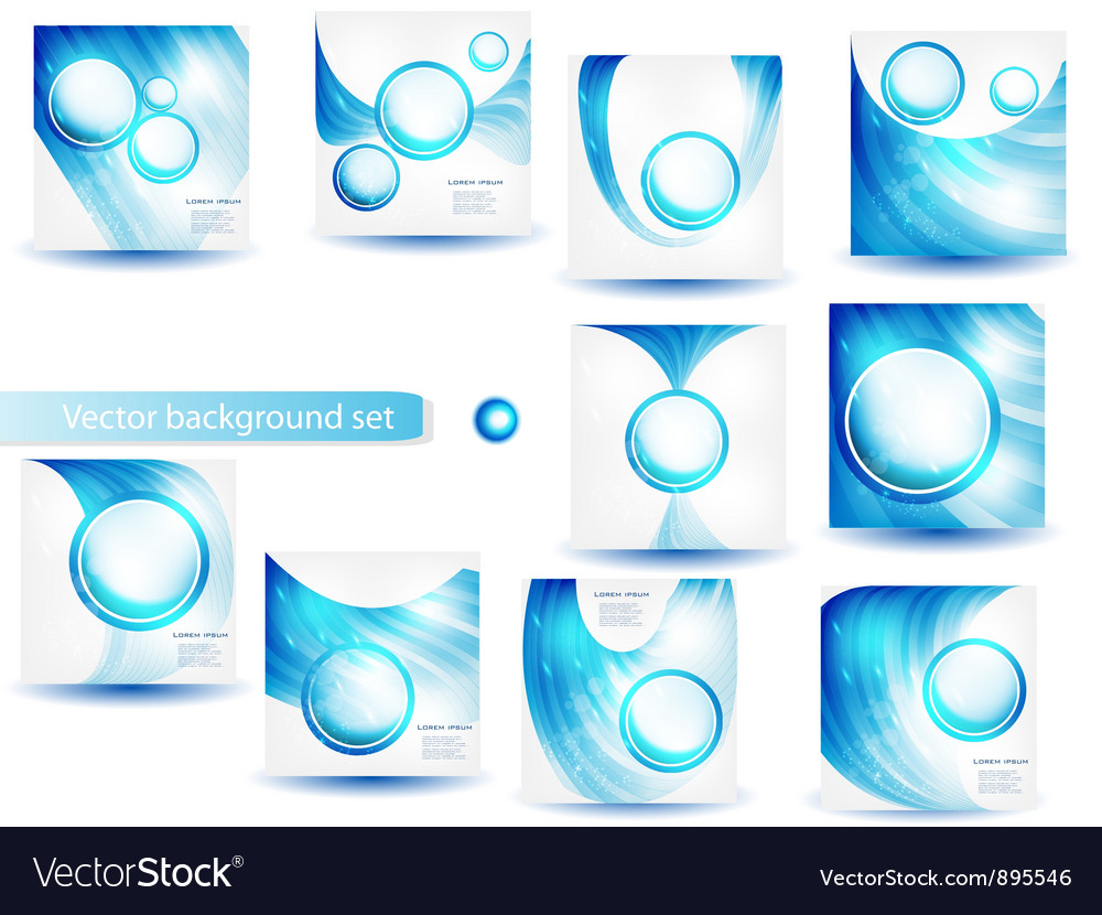 Abstract circle blue curve