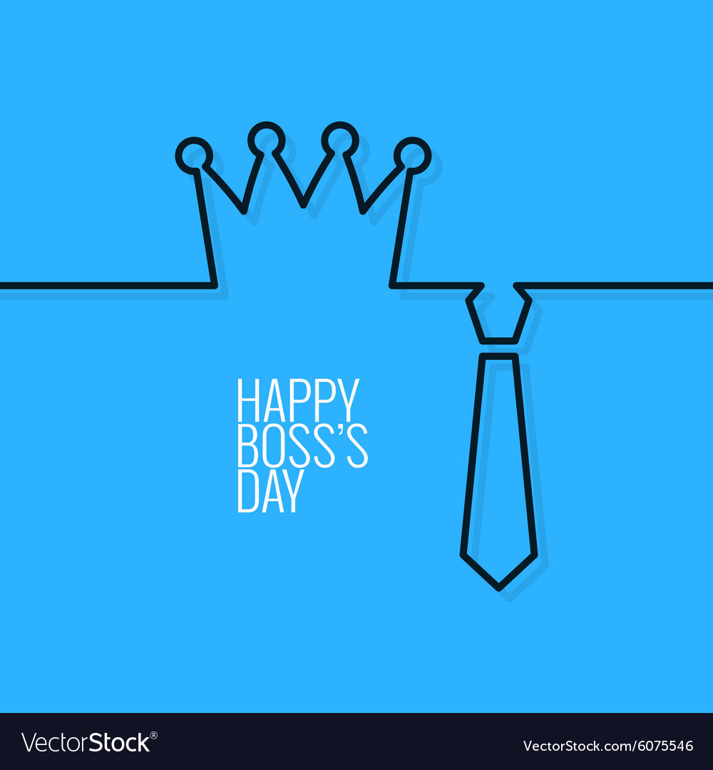 Boss day continuous line background vector image