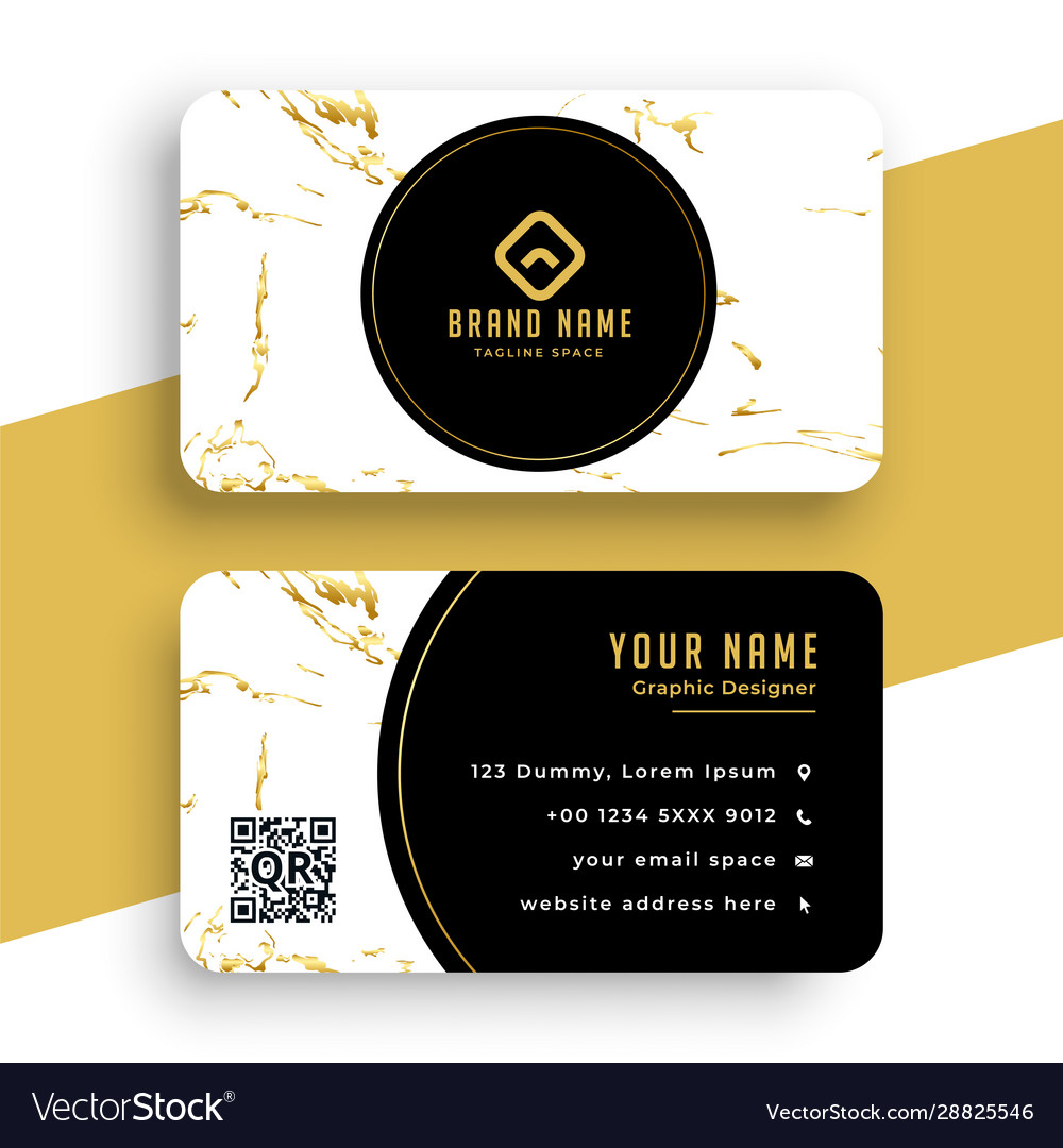 Creative marble texture business card premium