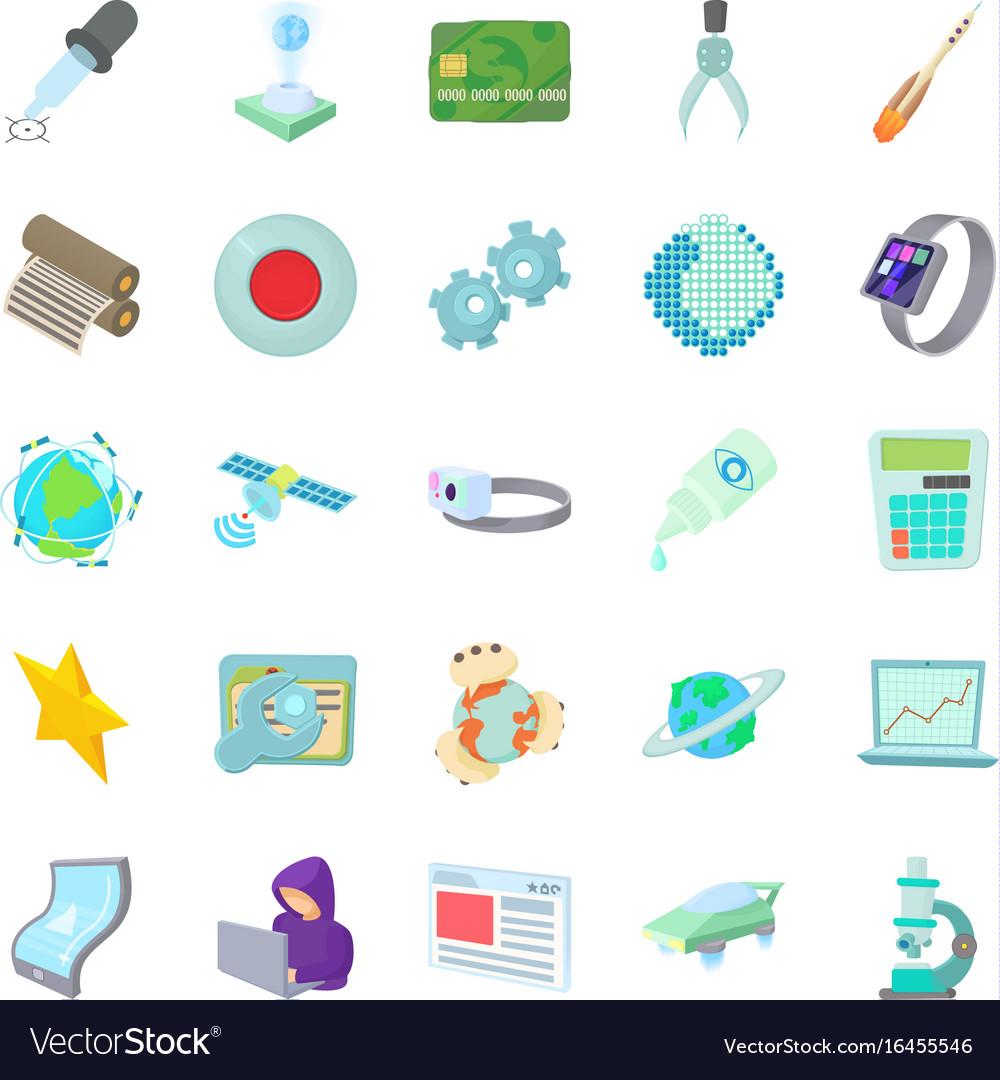 Novelty icons set cartoon style