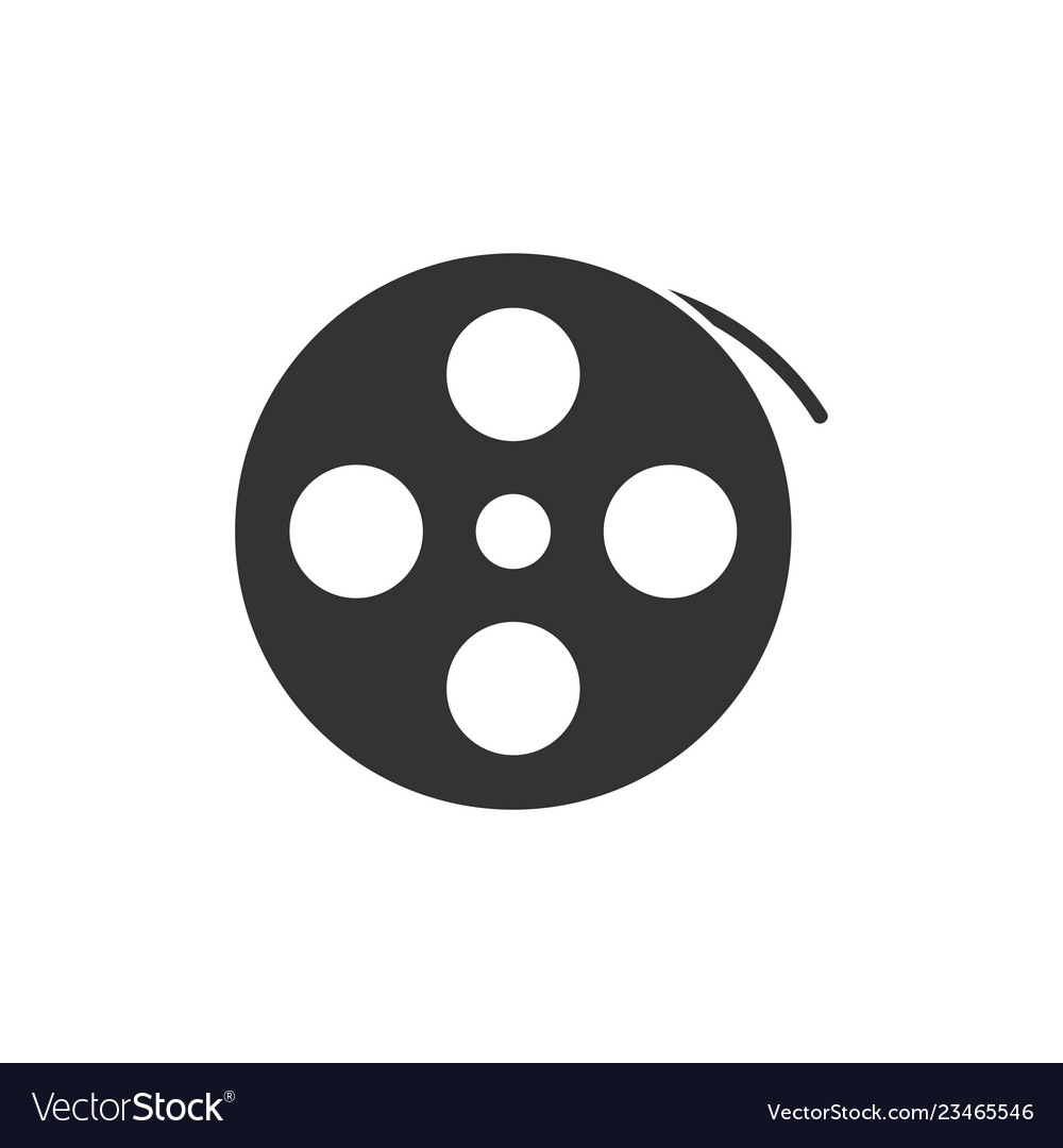 Reel film icon flat