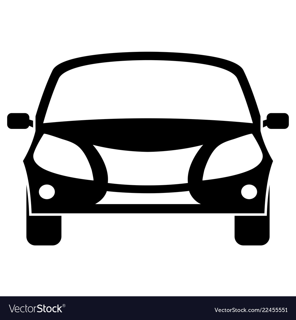 Car icon front view