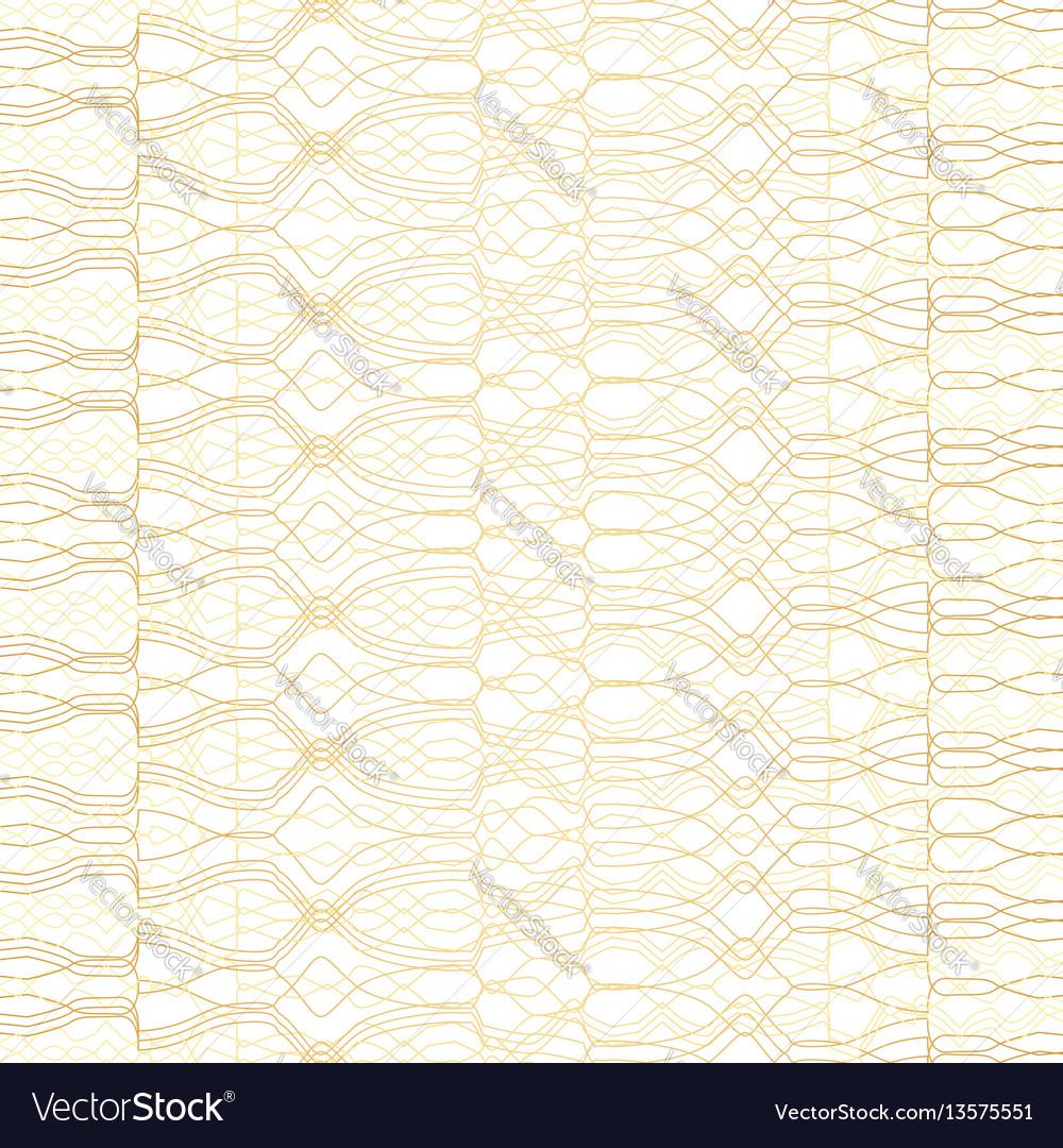 Golden geometric pattern on white background
