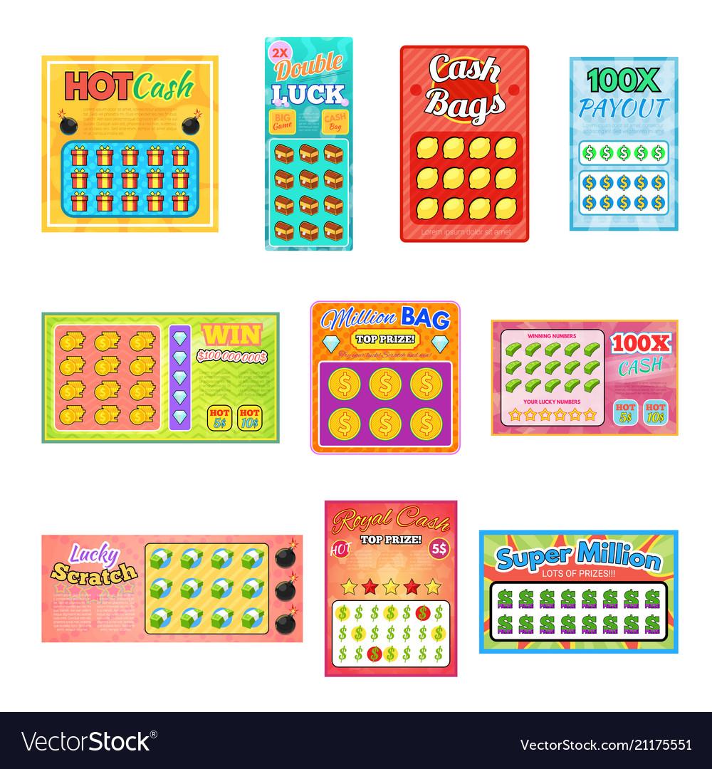 Lottery ticket lucky bingo card win chance