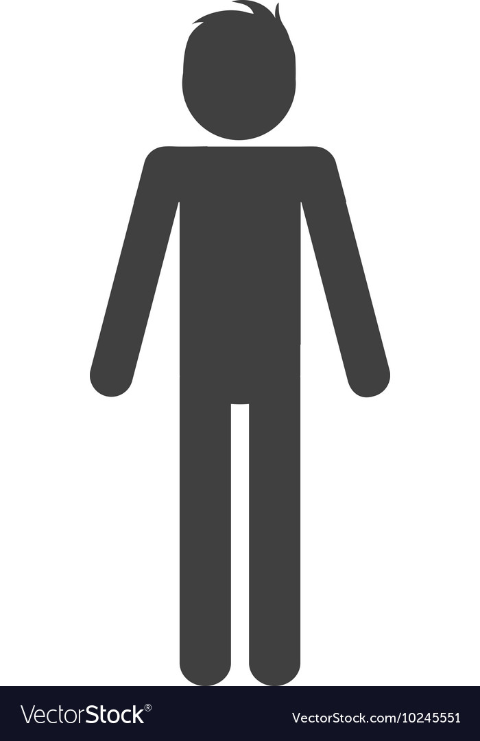 Man male pictogram person people icon vector image