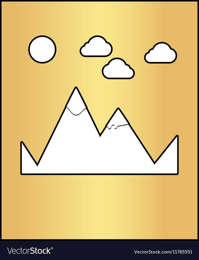 Mountains computer symbol