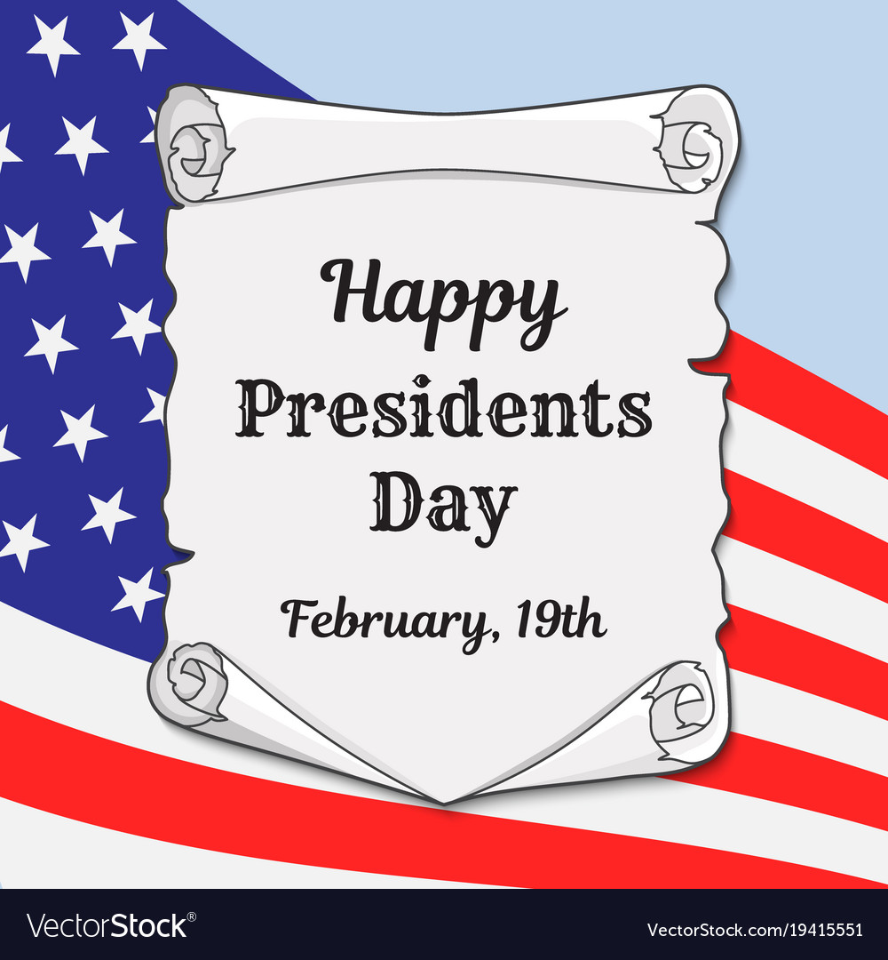 Presidents day in the us greeting card or banner