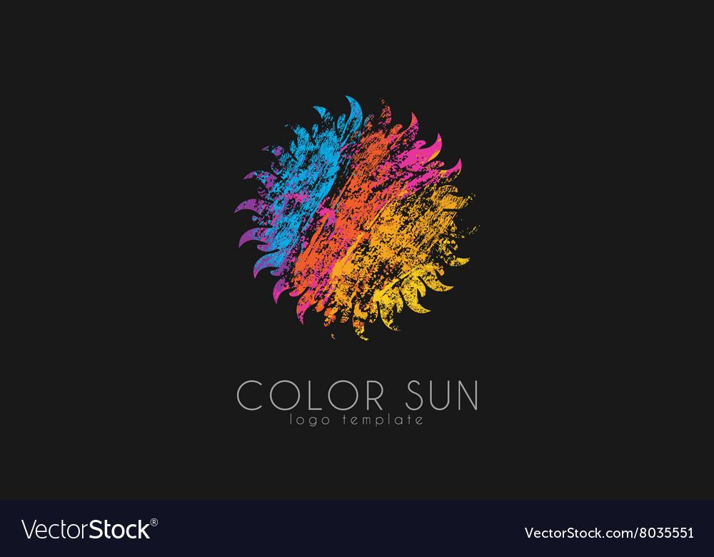 Sun logo design color sun Creative logo Star