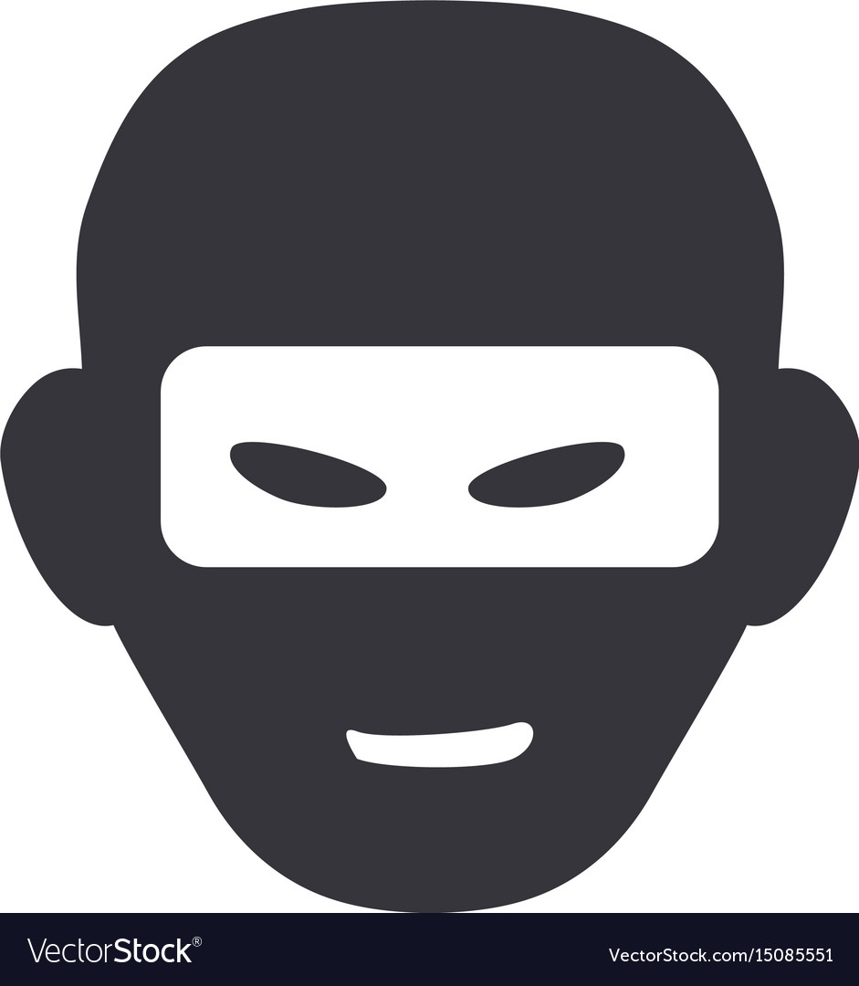 Thief with mask dangerous symbol