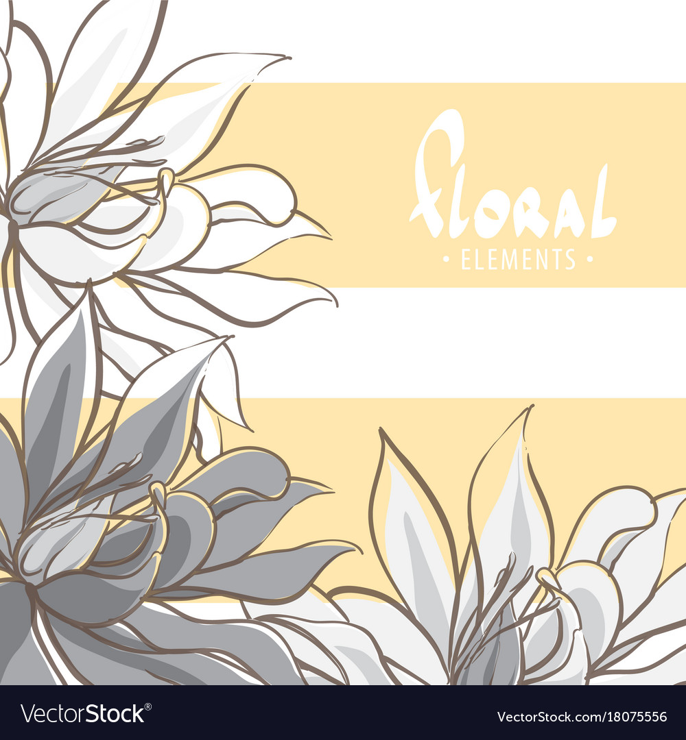 Black And White Lily Flowers Royalty Free Vector Image