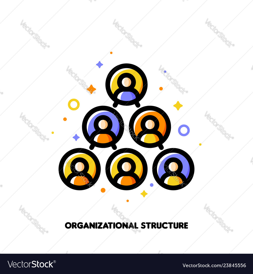 Company organizational structure icon hierarchy