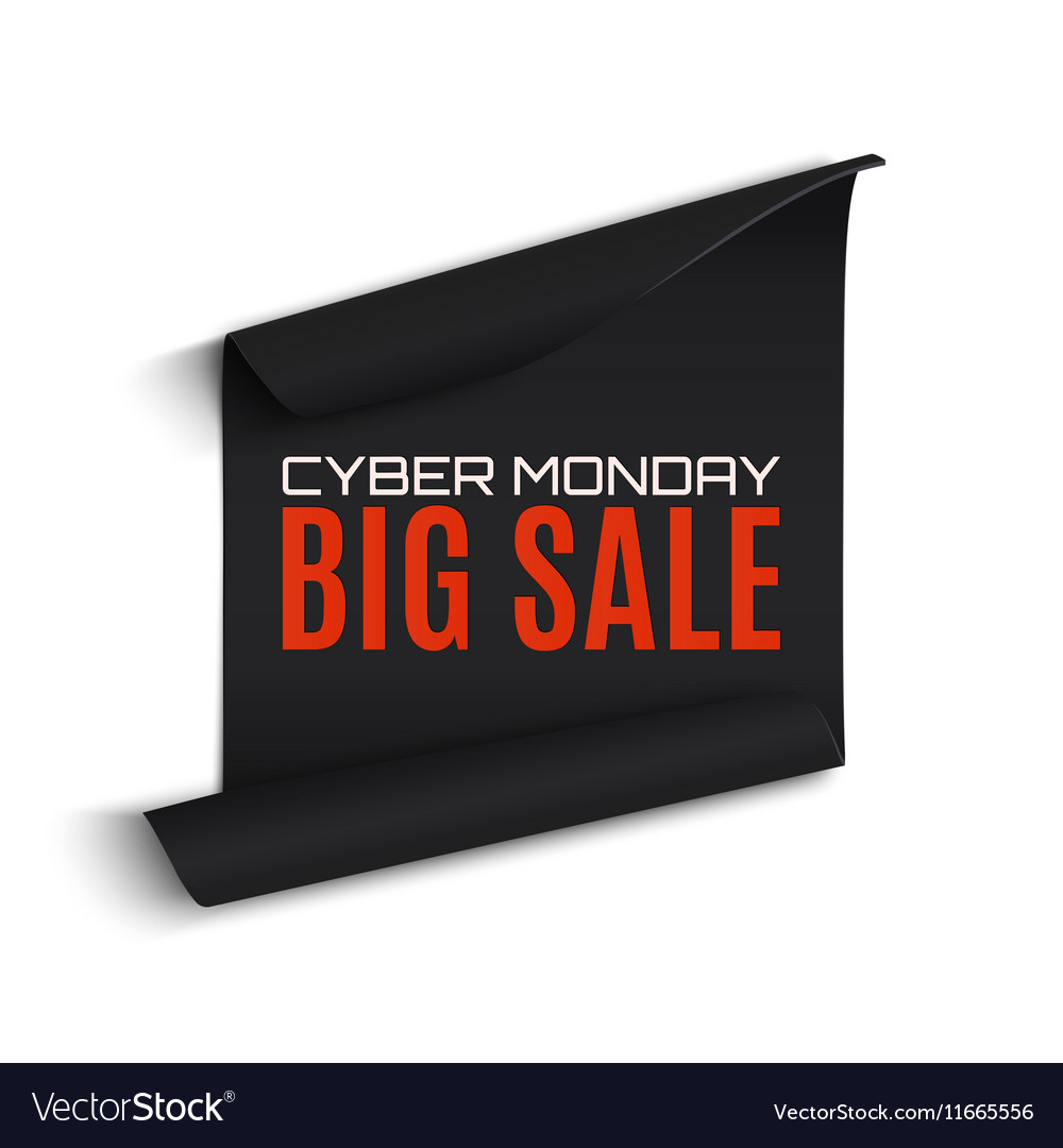 Cyber Monday sale curved paper banner