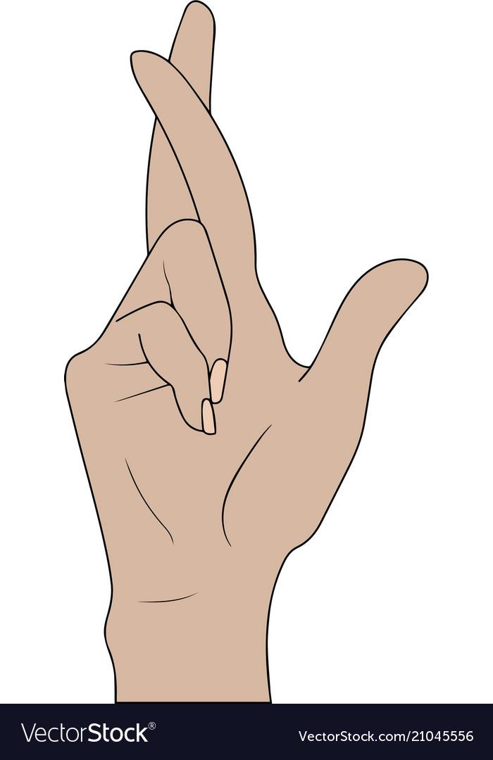 Lie Fingers Vector Images 74