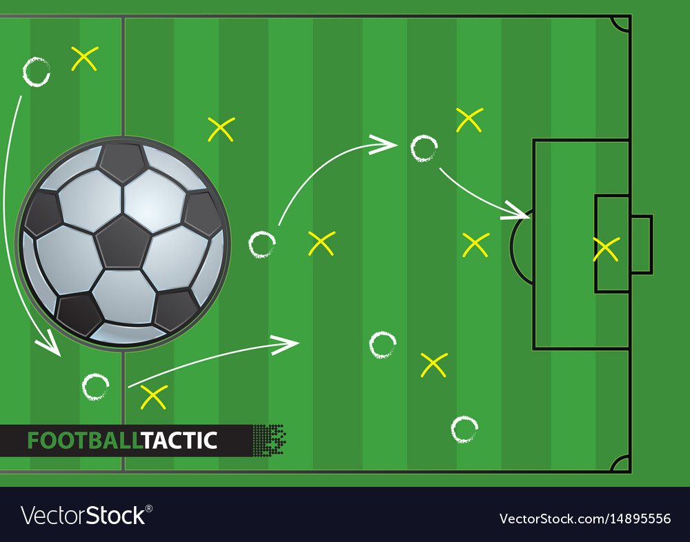 Soccer game strategy plan football background