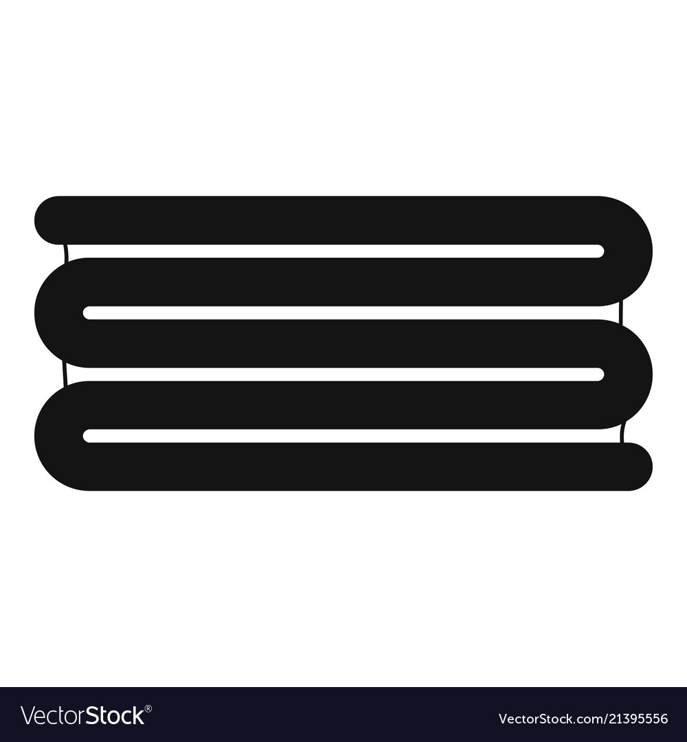 Stacked towel icon simple style