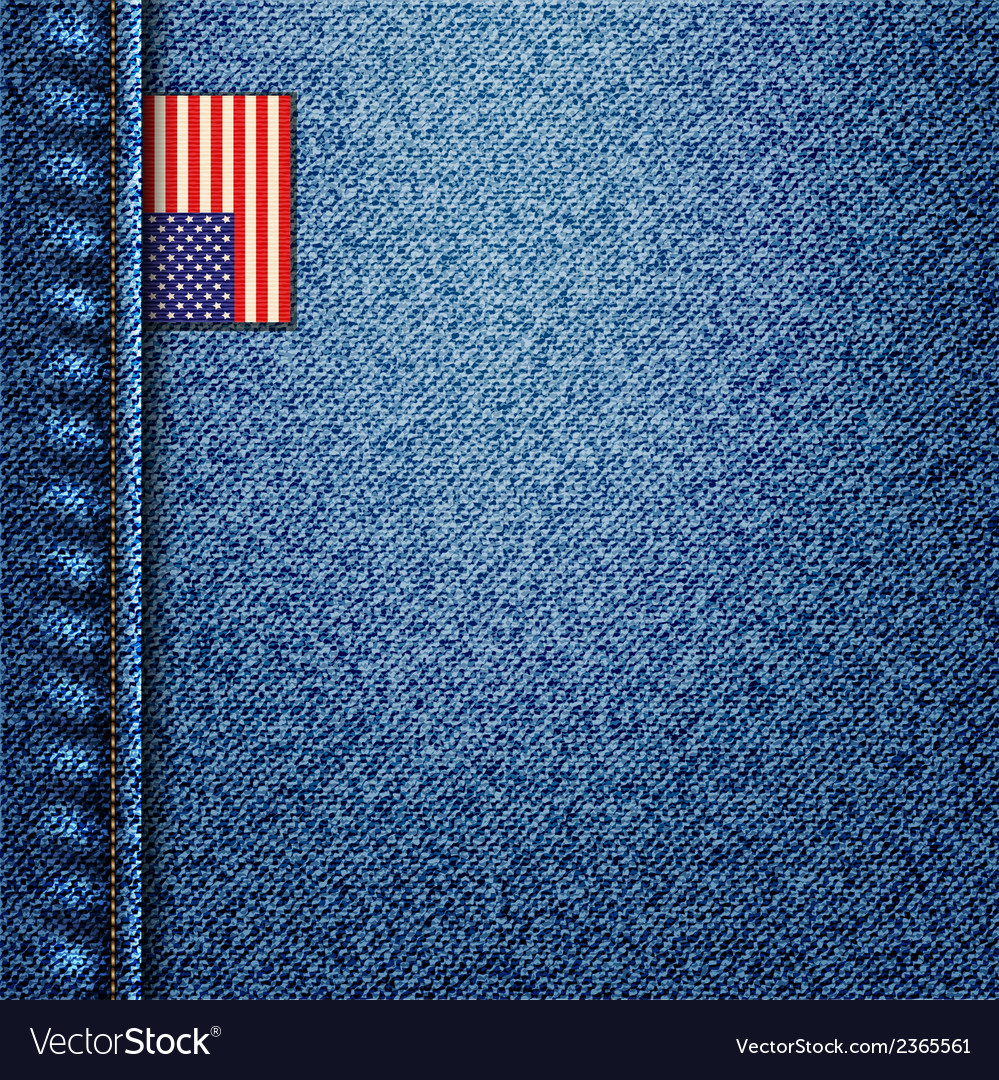 American denim vector image