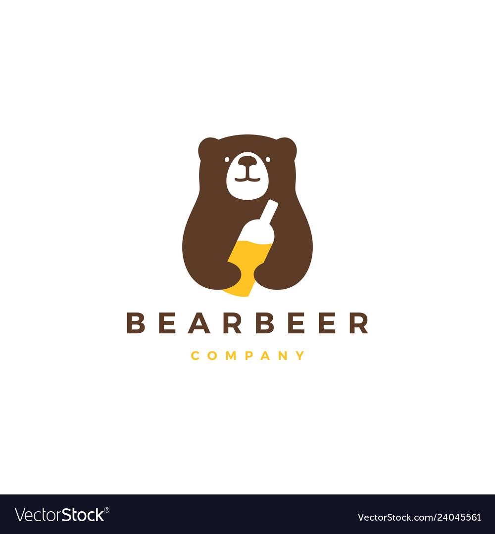 Bear beer logo icon