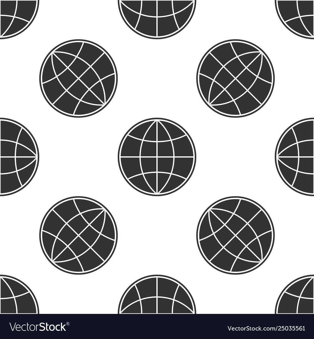 Earth globe icon isolated seamless pattern on