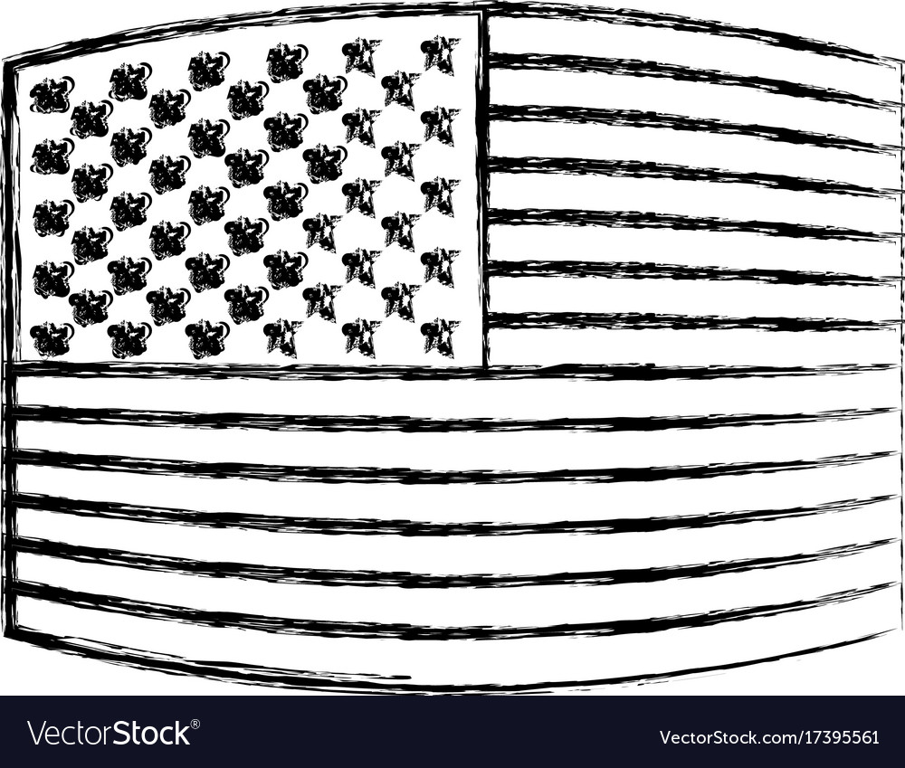 Flag united states of america wave out design