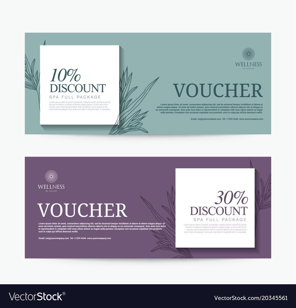 Gift voucher template for spa hotel resort