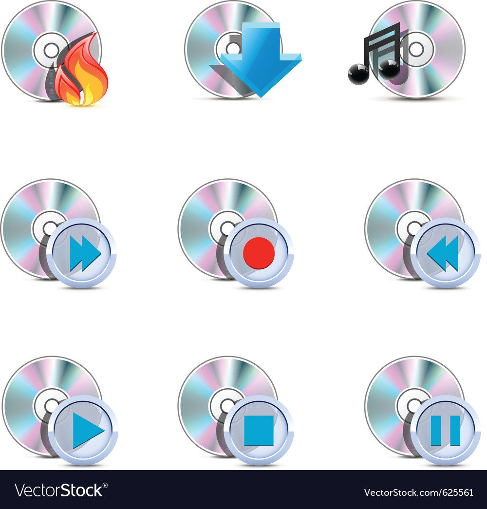Media symbols vector image