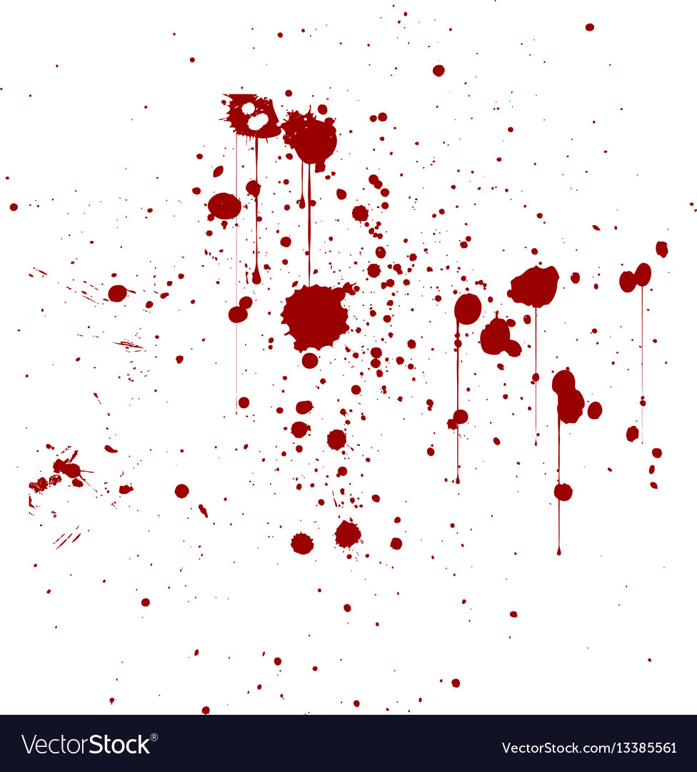 Red ink splatter background isolated on white