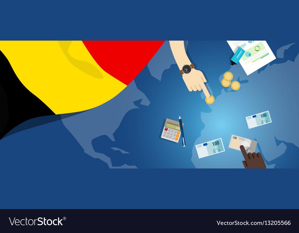 Belgium economy fiscal money trade concept