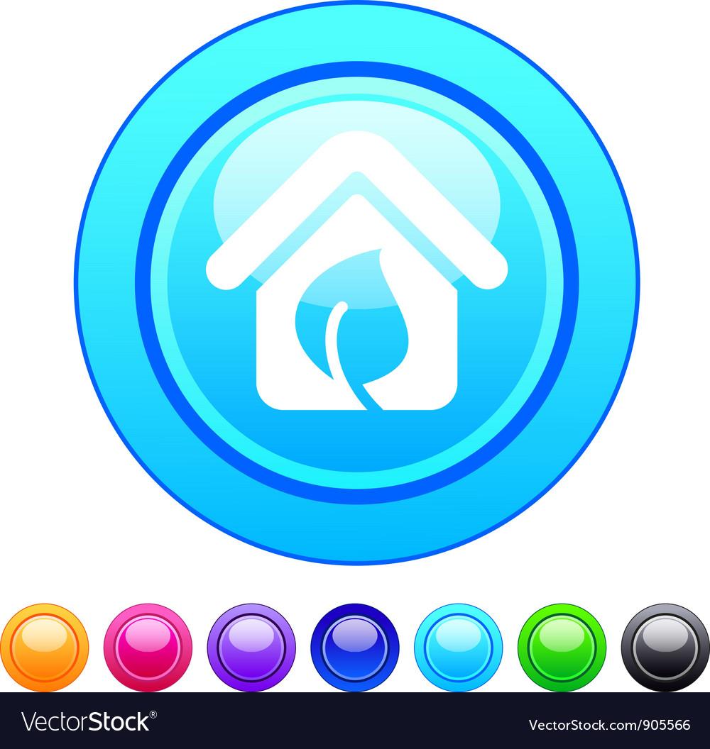 Green home circle button