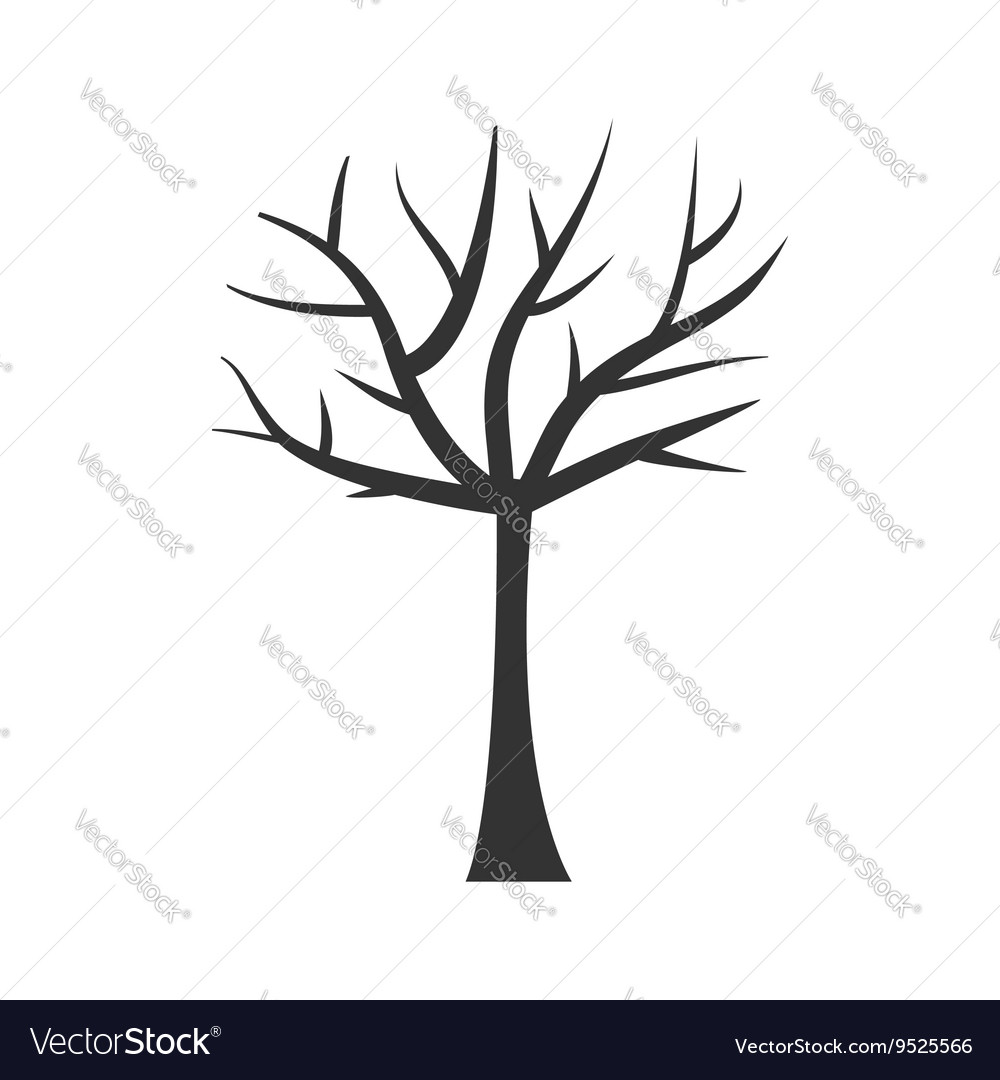 tree trunk silhouette tree branch plant clip art vector image rh vectorstock com tree trunk clip art black and white tree trunk silhouette clip art