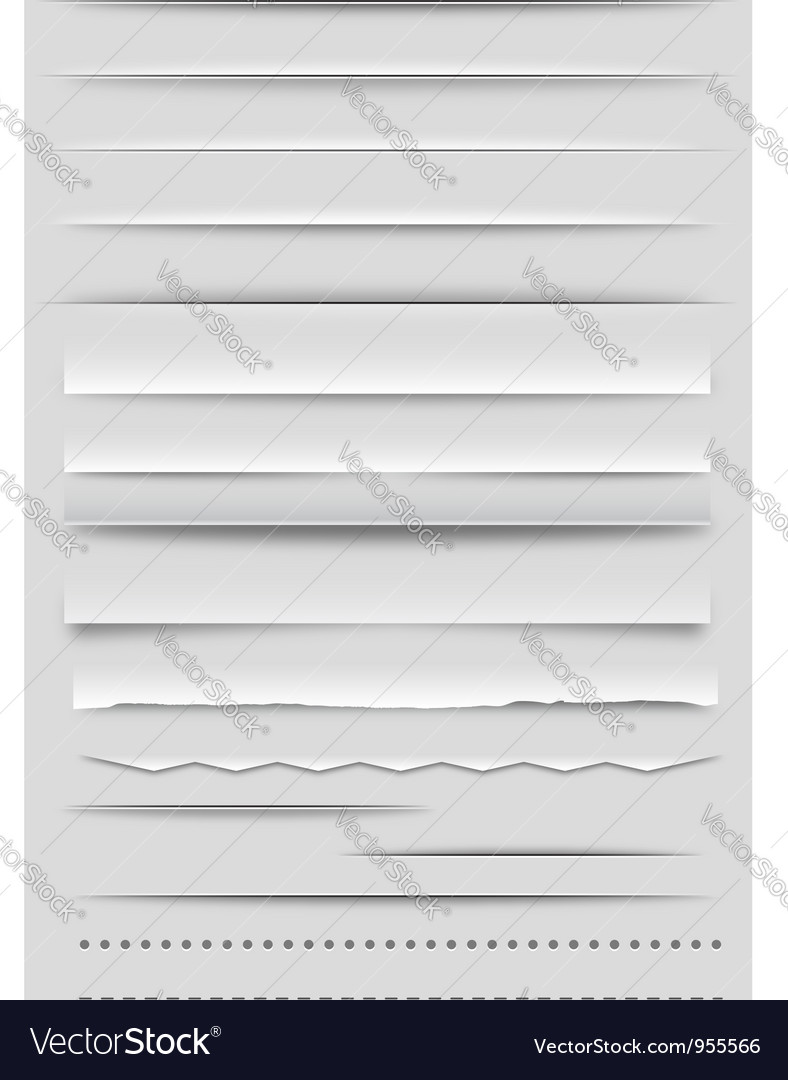 Web Dividers and Rulers vector image