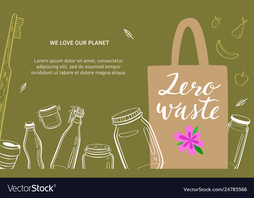 Zero waste and eco friendly lifestyle hand