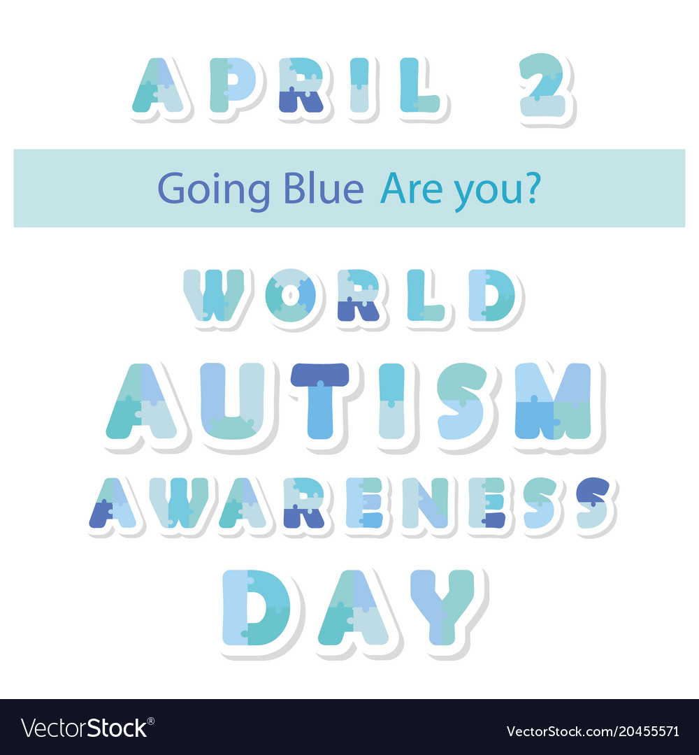 Autism awareness information banner puzzle