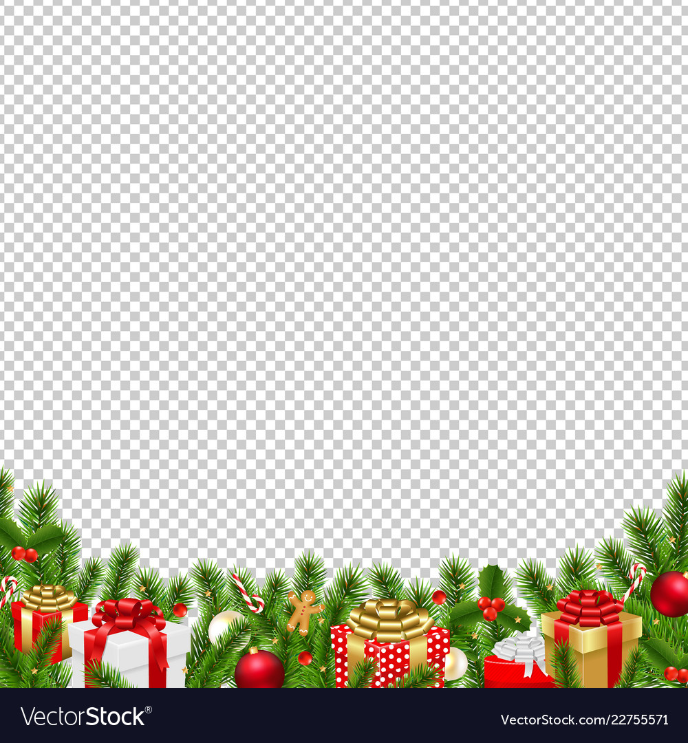 Christmas border transparent background