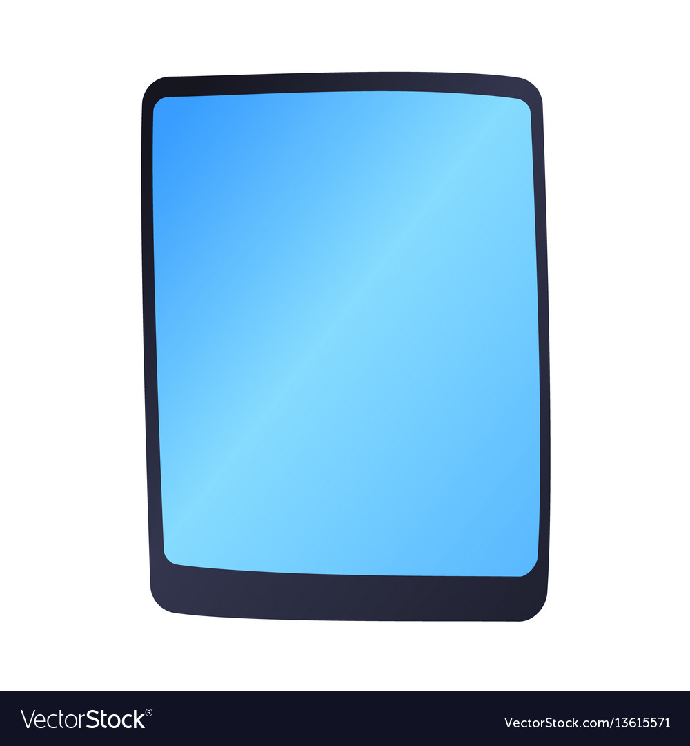 Computer tablet technology isolated display vector image