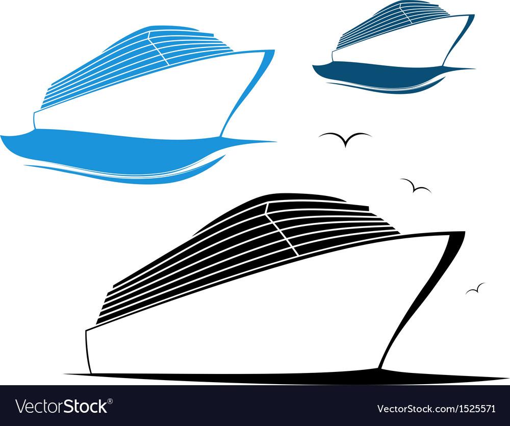 cruise ship royalty free vector image vectorstock rh vectorstock com ship victory 1 ship victoria 1846