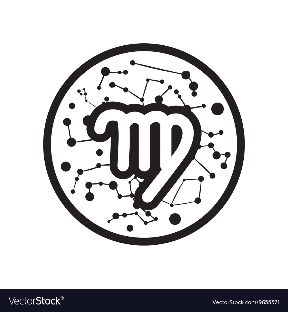 Flat icon in black and white style Zodiac signs
