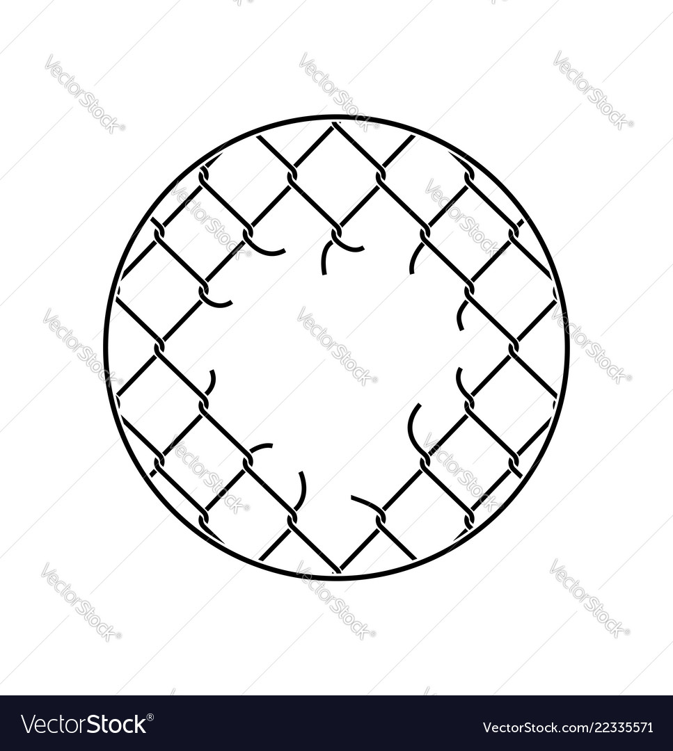 Mesh netting torn rabitz with hole mesh fence