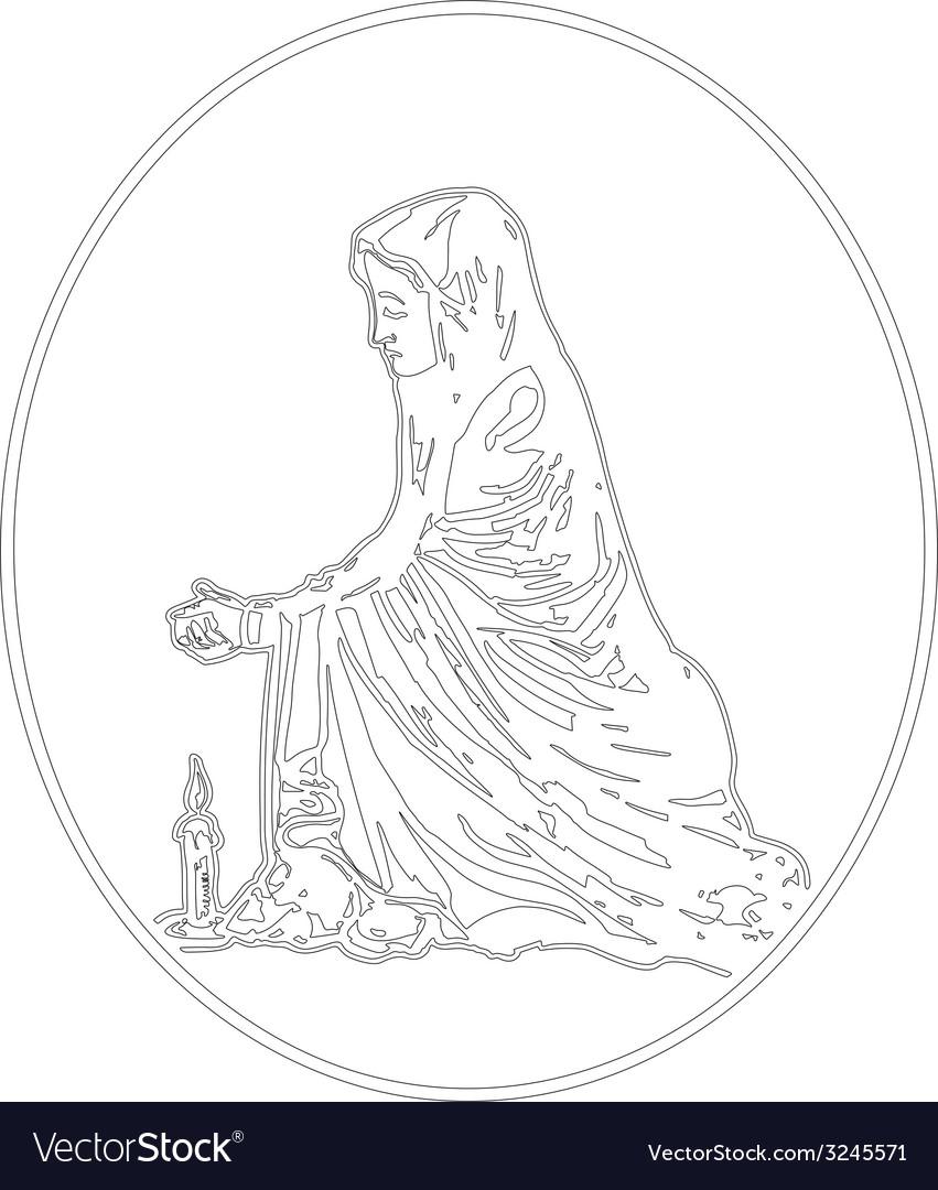 Virgin mary praying vector image