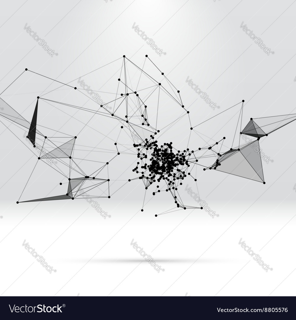 Abstract background with dotted grid vector image
