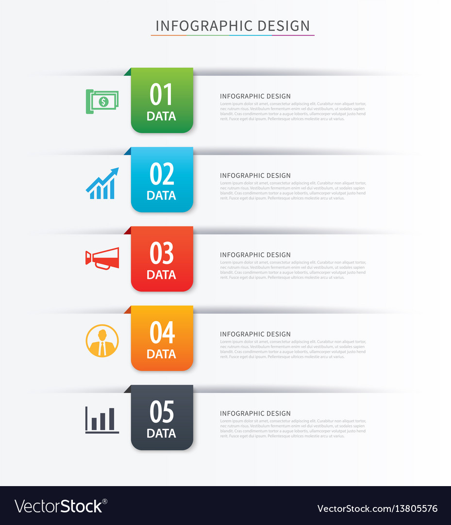 Business index infographics template with 5 data