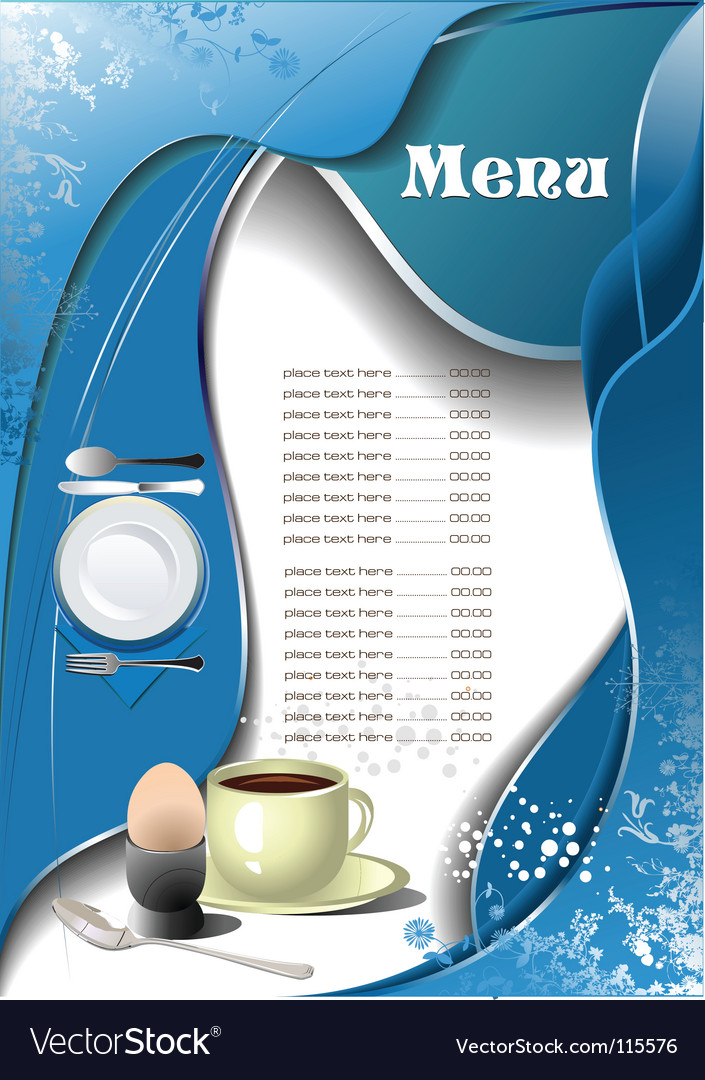 Cafe restaurant menu