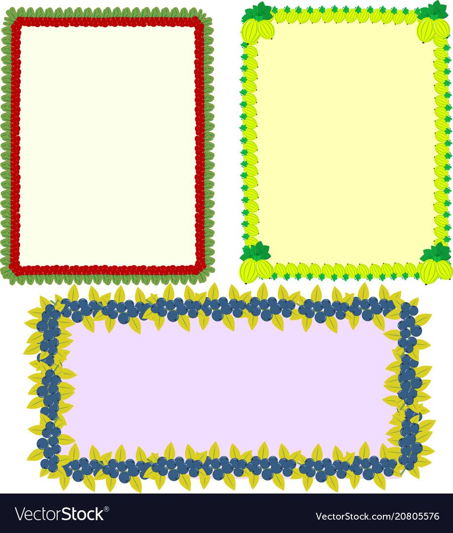 Framework in the set vector image