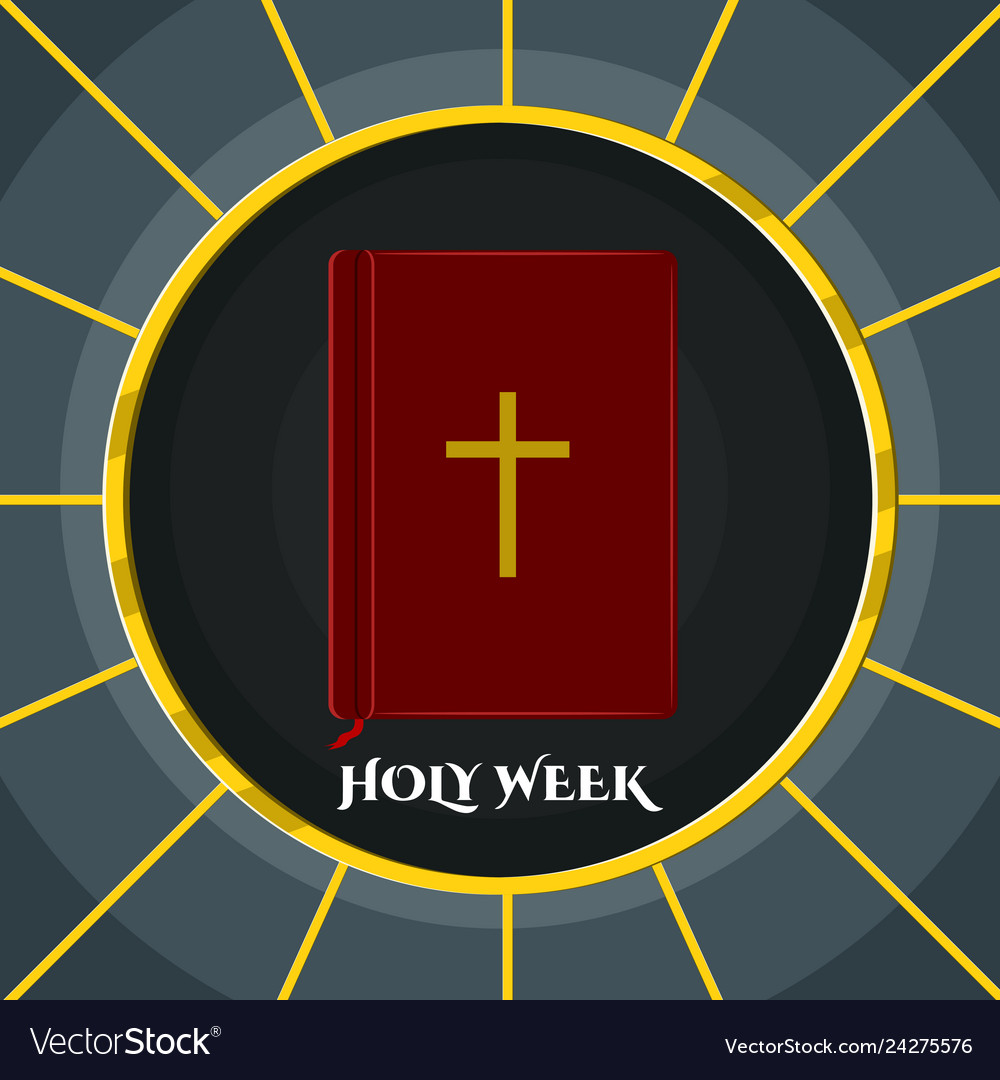 Holy Week Banner With A Bible Royalty Free Vector Image