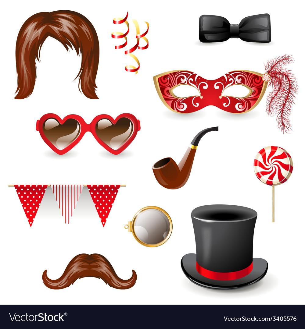 Masquerade elements vector image