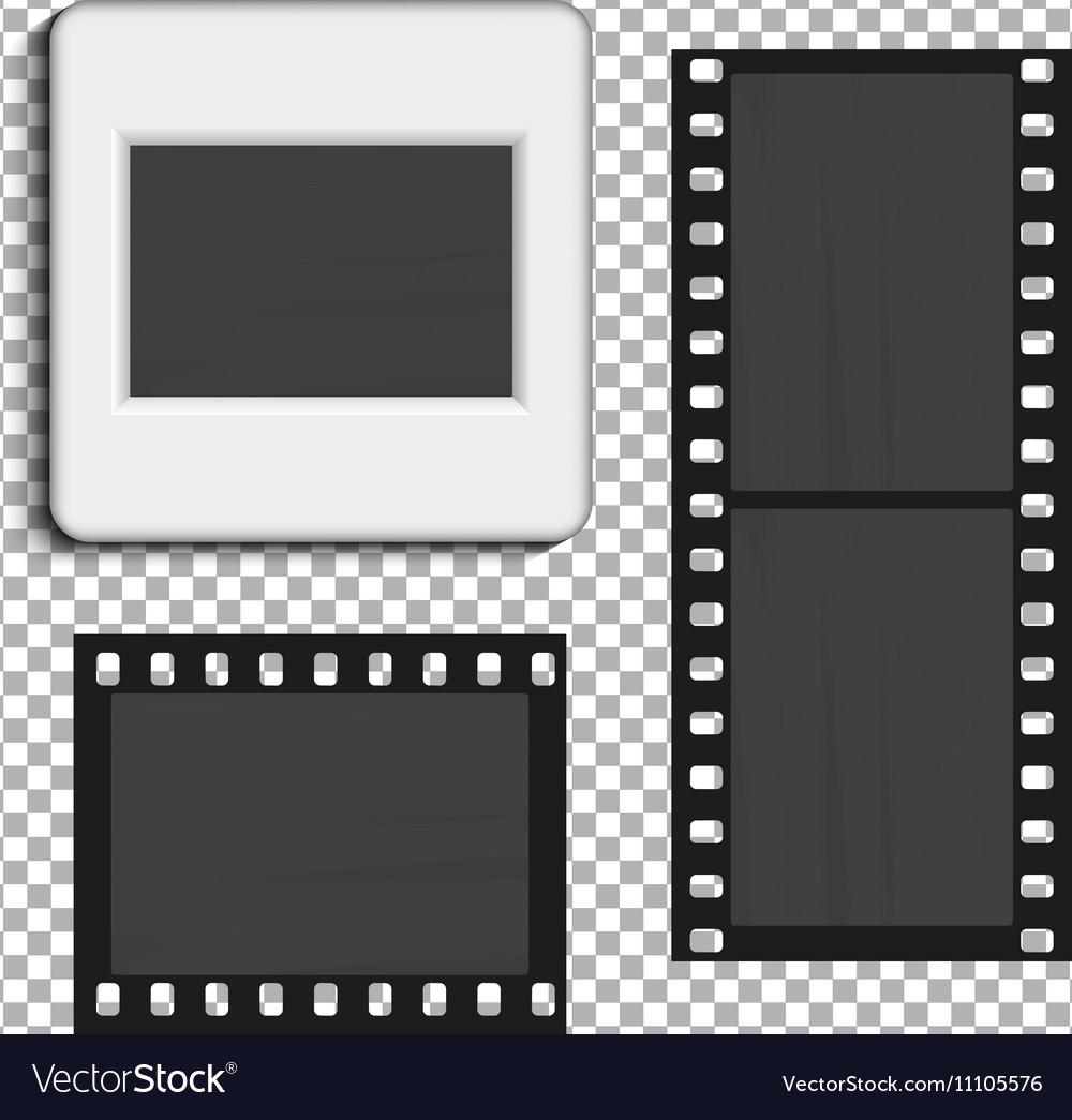 Realistic photographic slide
