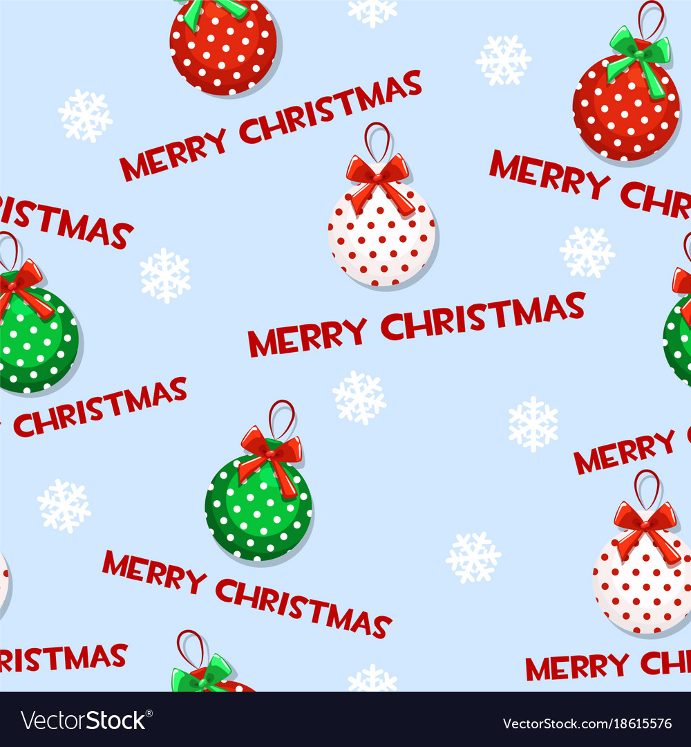 Seamless pattern with cartoon christmas