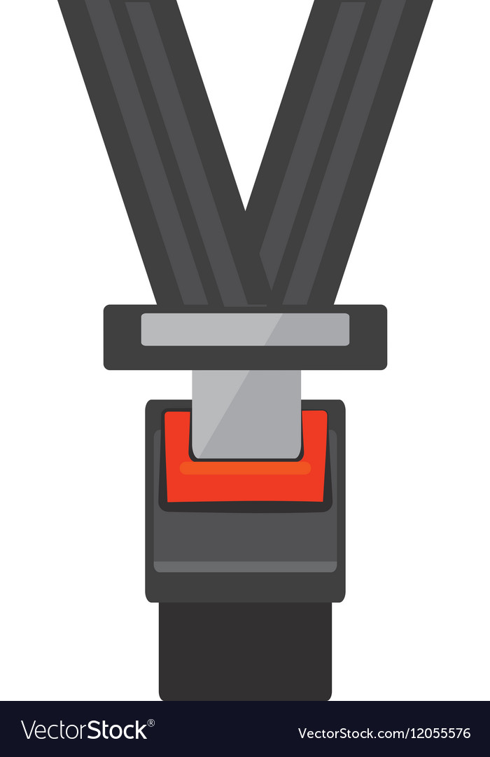 Seat belt drive safe sign vector image