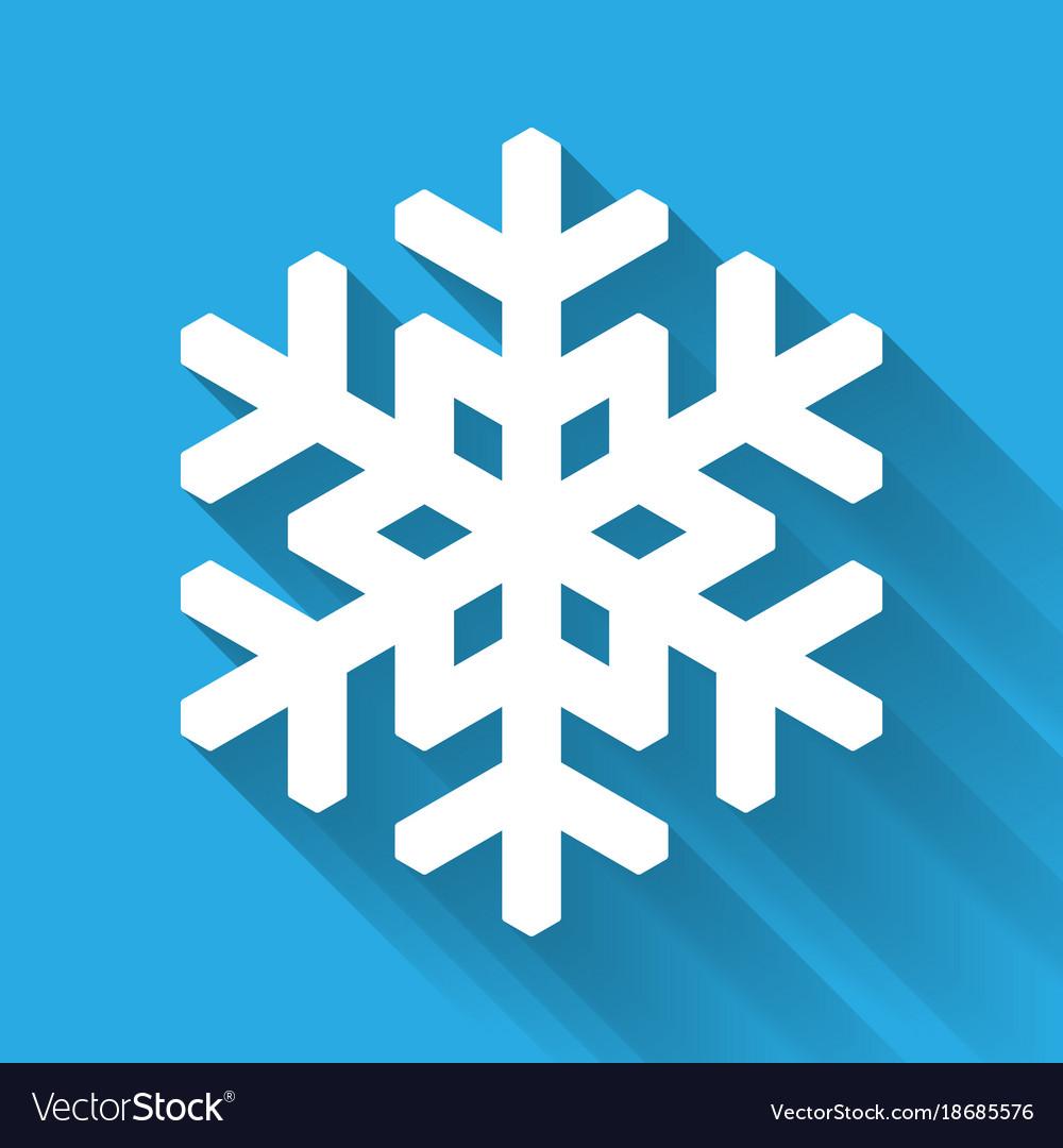 snowflake icon christmas and winter theme simple vector image