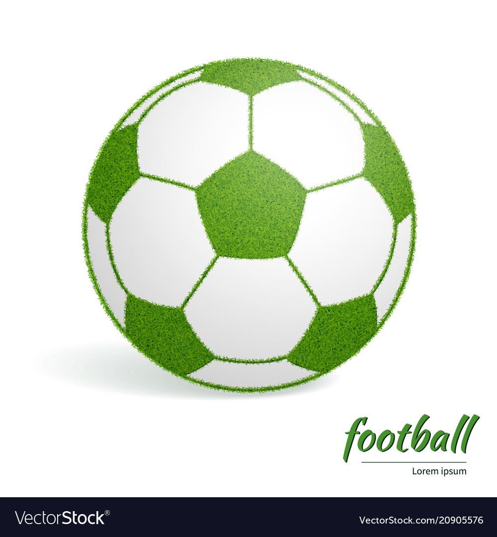 Soccer ball green