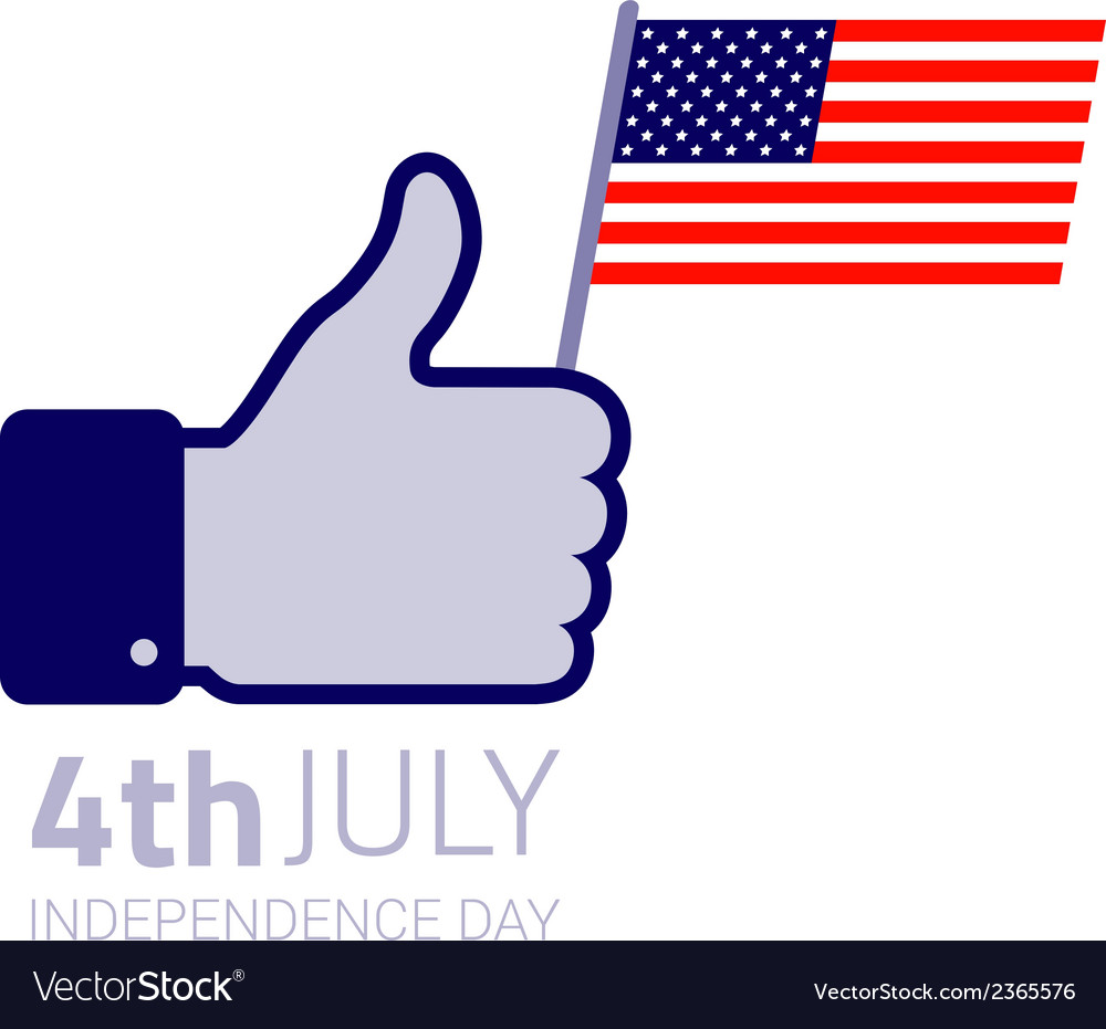 Thumb up hold american flag icon